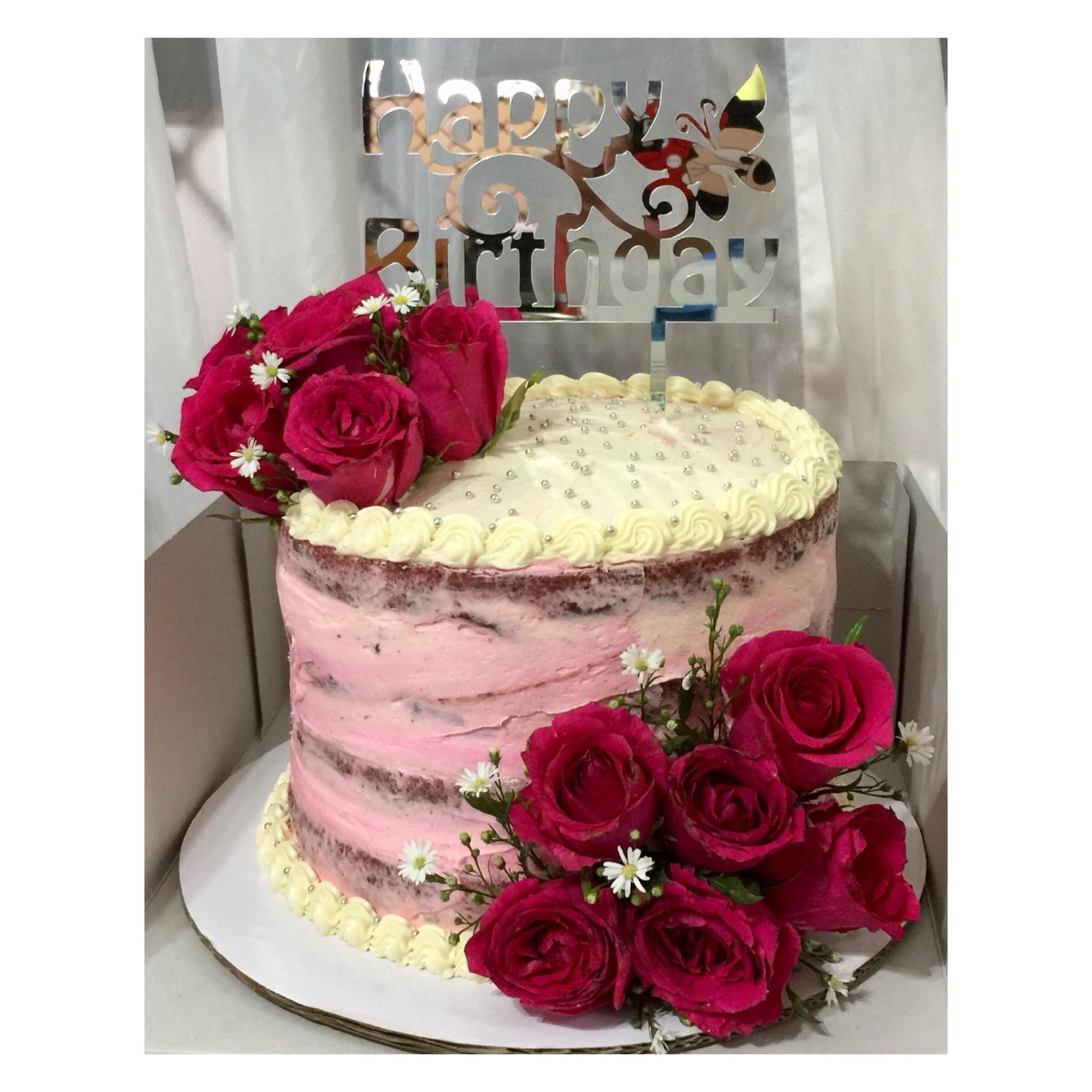 Cake with Red Rose